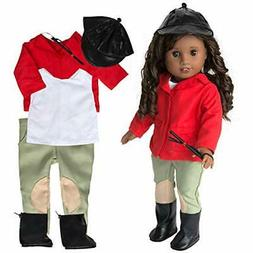 Horse Riding Equestrian Doll Outfit - Doll Clothes for Ameri