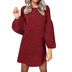 836e8a10129 Hot Sale Women Knitted Dress DEATU Ladies Fashion Casual Sol