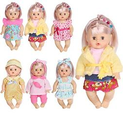 Huang Cheng Toys Set of 6 Doll Clothes for 12 Inch Doll Dres