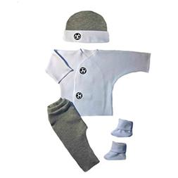 Jacqui's Baby Boys' Gray Soccer Ball Clothing Set, Small New