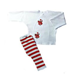 Jacqui's Unisex Baby Candy Cane Stripes Christmas Clothing O