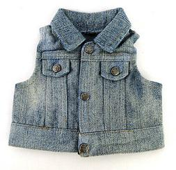 "Jean Jacket Denim Vest fits 18"" American Girl Doll Clothes A"