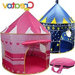 Kids Tent Toy Princess Playhouse - Toddler Play House Pink C