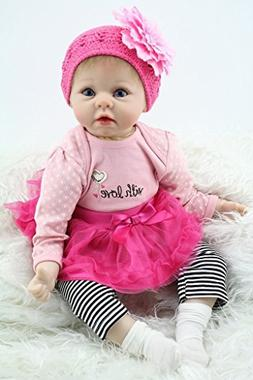 Npkdoll Reborn Baby Doll Soft Silicone 22inch 55cm Magnetic