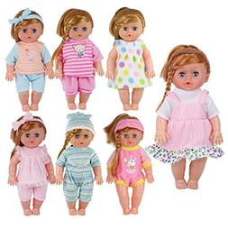 Pack of 7 for 11-12-13 Inch Alive American Doll Baby Doll Cl
