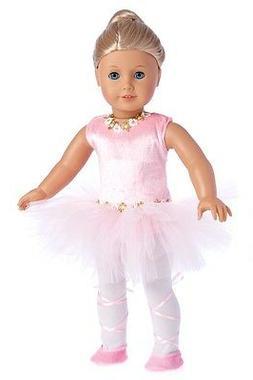 Prima Ballerina - 3 piece ballerina outfit - pink leotard wi