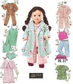 SIMPLICITY CLOTHES FOR 18 FASHION DOLL-ONE SIZE