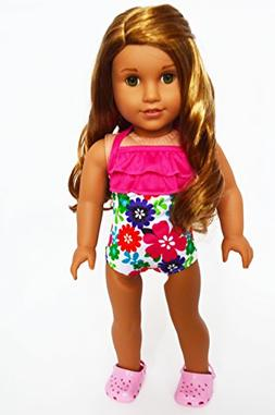 Brittany's Tropical Hibiscus Swimsuit 18 Inch Doll Swimsuit