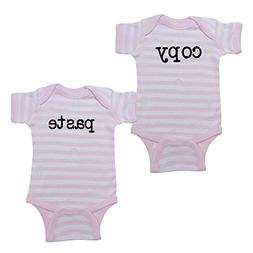 We Match! Unisex Baby Twin Set 2-Pack copy & Paste Bodysuits