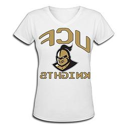 Women's UCF Knights 100% Cotton V Neck Short Sleeve T-Shirt