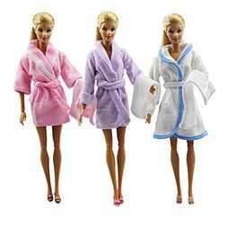 XMAS GIFT 2 Sets Handmade Nightwear Bathrobes Clothes + + Sh