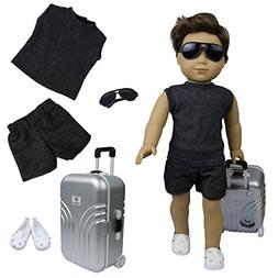 ZITA ELEMENT Travel Boy Set of 4 for 18 inch American Girl D