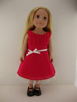 A Sweet Bright Pink Dress for 18 Inch Doll Like the American