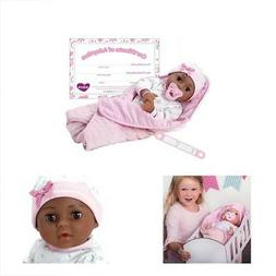 "Adora Adoption Baby ""Joy"" 16 Inch Vinyl Girl Newborn Weighte"