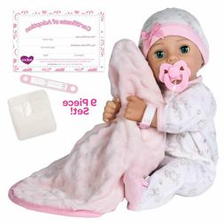 "Adora Adoption Baby ""Hope"" 16 Inch Vinyl Girl Newborn Weight"