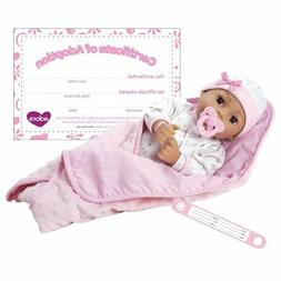 "Adora Adoption Baby ""Precious"" 16 Inch Vinyl Girl Newborn We"