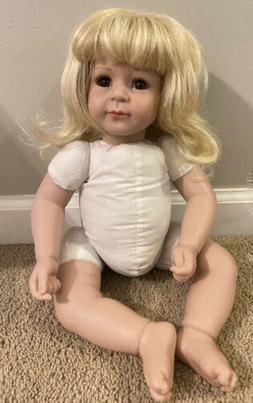 Adora Original Baby Doll Life Like Blond Hair Dark Brown Eye