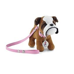 18 Inch Doll Accessories | Adorable Bulldog Puppy Dog with P
