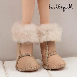 Adorable PU Plush Long Snow Boots <font><b>Shoes</b></font>