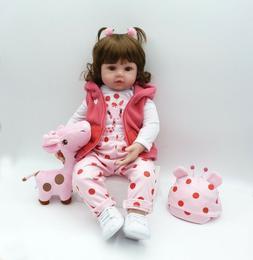Adorable Reborn Toddler Girl Dolls 18in Real Life Girl Doll