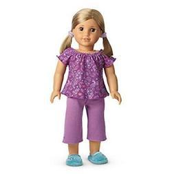 American Girl My AG Purple Peacock PJS Pajamas for Dolls + C