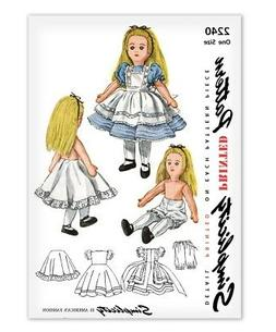 Alice in Wonderland Doll Sewing Pattern Simplicity 2240 Rag Cloth Clothes Dress