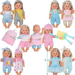 10pcs for 10-11-12 Inch Baby Doll Clothes Dress Reborn Newbo