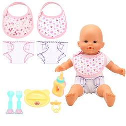 Barwa Baby Alive Baby Doll Accessories 4pc Feeding Set and 2