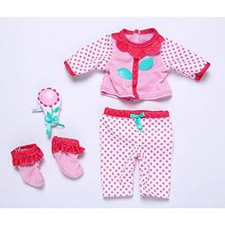 "Baby Alive Flower Petal Pajamas for 12"" to 14"" Dolls"