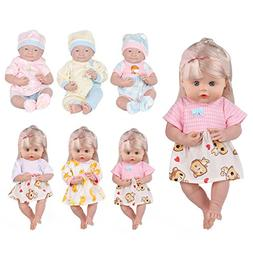 Huang Cheng Toys 5 PCS Alive Lovely Baby Doll Reborn Newborn
