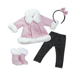 "Adora Amazing Girls 18"" Doll Clothes - Stylish Pink Snowy Wi"