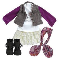 "Adora Amazing Girls 18"" Doll Clothes - Trendy Twill & Lace O"