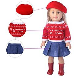 Hot Sale!American Girl Doll Clothes,Todaies Cute Sweater Hat