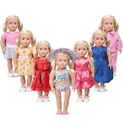 American Girl Doll Clothes for 18 Inch Dolls - AmyHomie 7 Ou