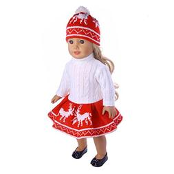 WARMSHOP American Girl Doll 18 inch Cute Reindeer Snowman Pr