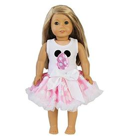 "18"" American Girl Doll Pink Polka Dots Pettiskirt Easter Egg"