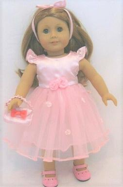 American Doll Pink Satin BALLET Dress Only OUTFIT Clothes 18