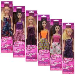 """American Fashion Dolls, 11"""". Set of 6 with different clothes"""