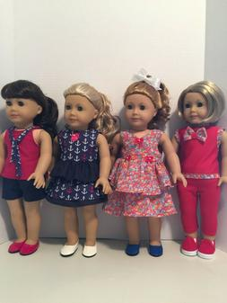 American Girl Doll Clothes - 8 Piece Summer Wardrobe Include
