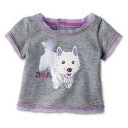 American Girl Doll Clothes Gray GRAPHIC FASHION TEE Westie D