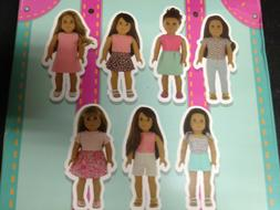 PZAS Toys American Girl Doll Clothes Wardrobe 7 Outfits Fits
