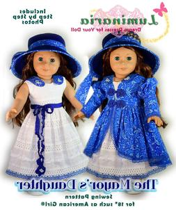 "American Girl Doll Dress Clothes Pattern 18"" Doll Blaire Gra"