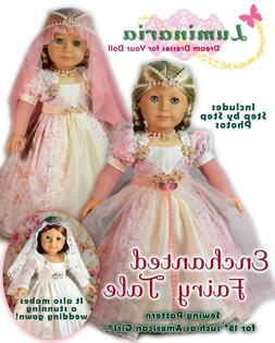 "American Girl Doll Dress Clothes Pattern 18"" Doll PDF Weddin"