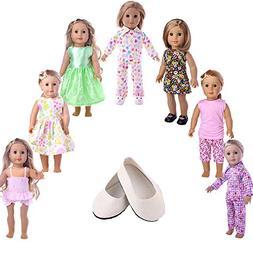 ZWSISU American Girl Doll Clothes Wardrobe Makeover- 7 Compl