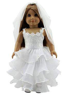 Doll Clothes Wedding Dress for 18 Inch American Girl Dolls