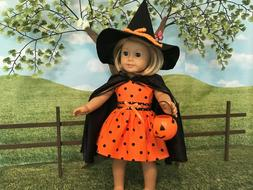 American Girl fitting Halloween Custome, 18 inch doll clothe