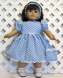 """AMERICAN MADE DOLL CLOTHES FOR 18"""" GIRL DOLL Handmade WHITE"""