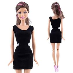 AMOFINY New Black Fashion Handmade Princess Dress Clothes Go