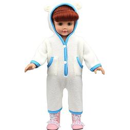 AMOFINY Cute Baby Doll Clothes Pajamas Custom Design Pajamas