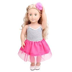 AMOFINY Daily Costumes Doll Clothes Dress for 18 Inch for Am